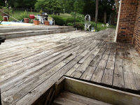 Old deck area